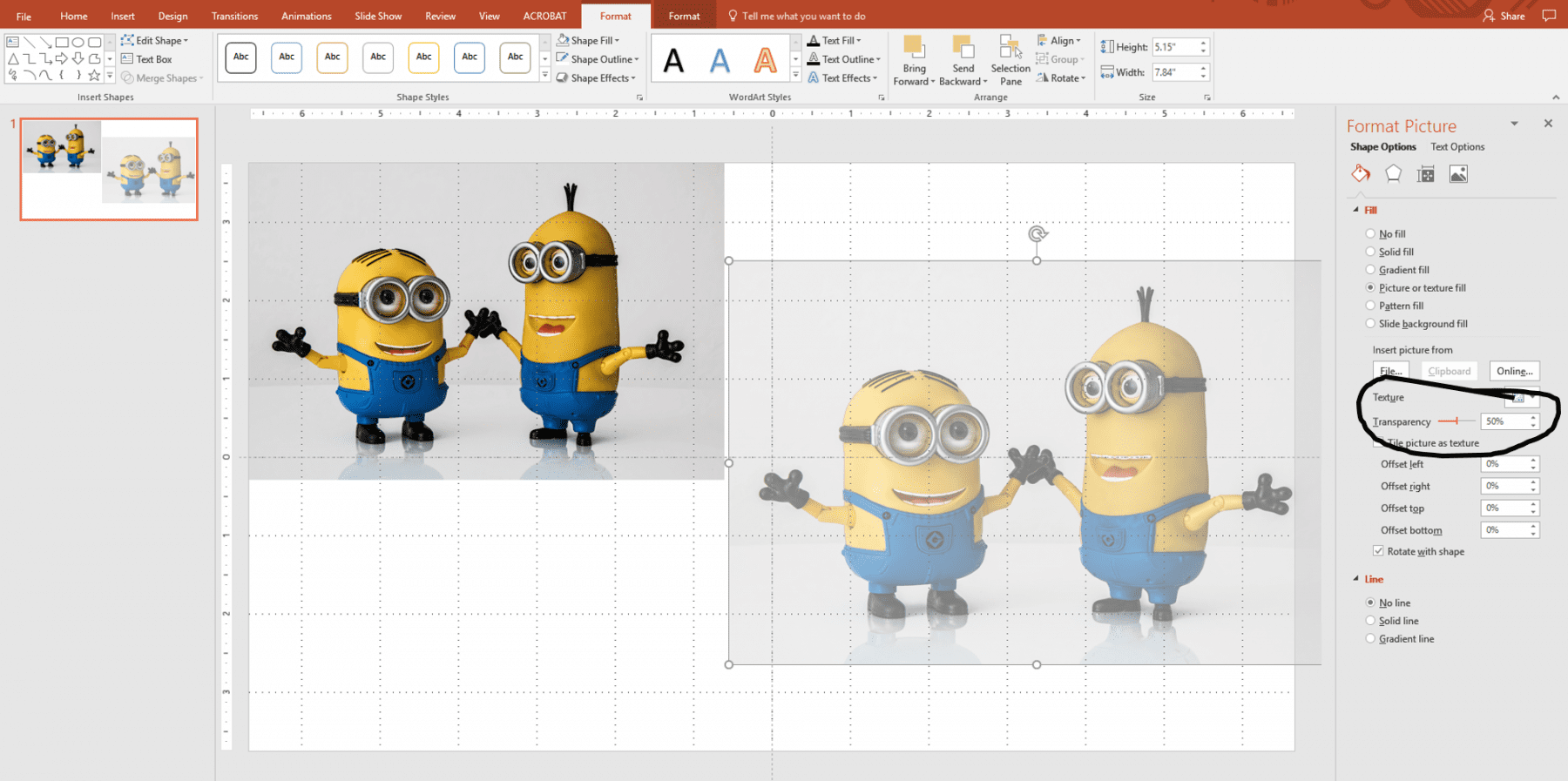 how to add transparency to pictures using powerpoint